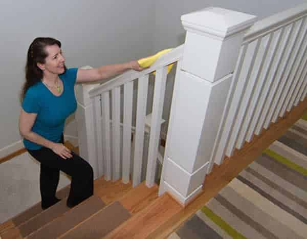 Fastest way to clean the house - cleaning the stairs