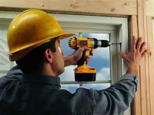 Professional or DIY window and door installation - installing windows