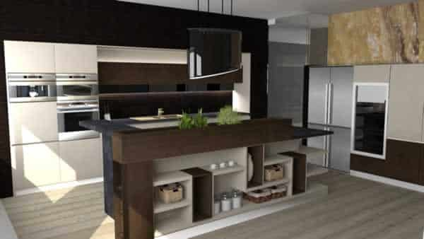 Expert's concepts of kitchen renovation - 3d model