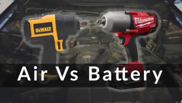 Air impact wrench vs Cordless impact wrench