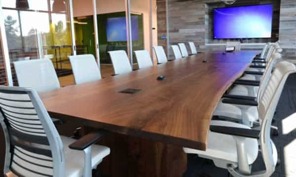 Custom hardwood conference tables types