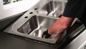 Genuine plumbing services - sink installation