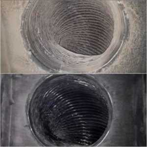 Why you must clean air ducts - clean and dirty ducts