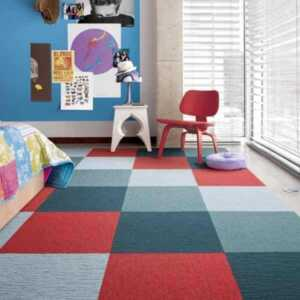 Decorating with carpet squares