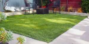 How to care for artificial grass - small backyard