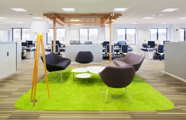 Office refurbishment tips - office break out area