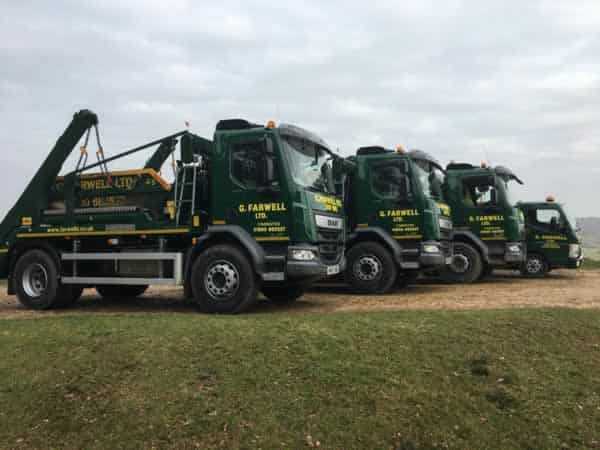 Farwell's new forrest skip hire - trucks