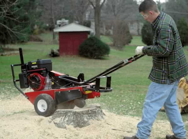 How to grind a tree stump - walk behind stump grinder