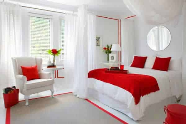 Simple tips for updating the look of your bedroom - red bedroom theme