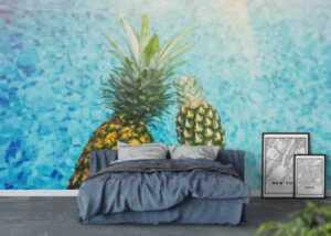 Wall art ideas - pineapples