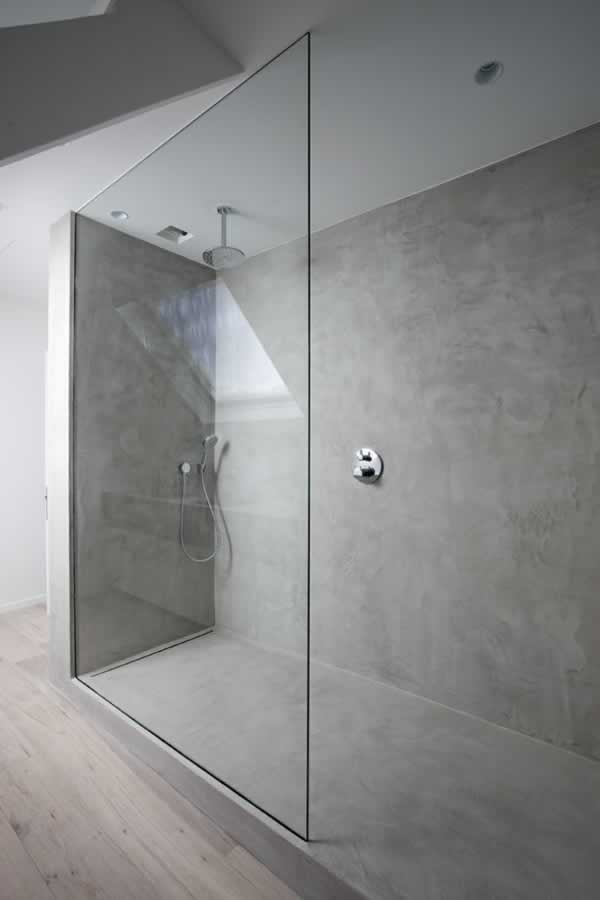 Tips to using decorative concrete around your home - concrete shower
