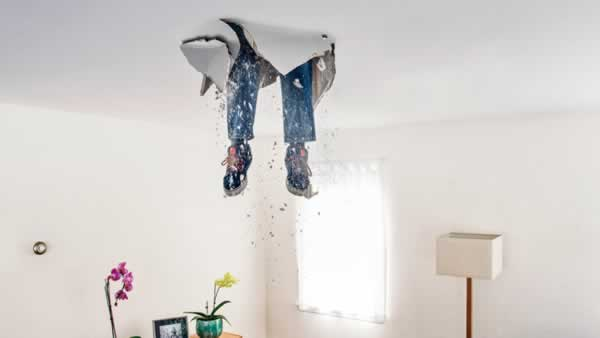 The most common DIY mistakes - falling through the roof