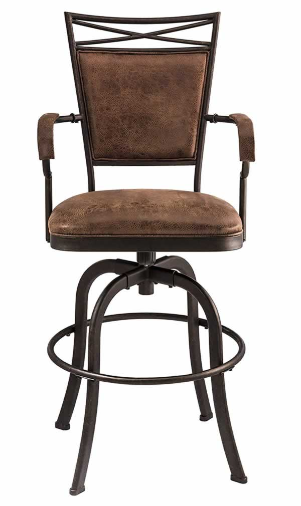Benefits of aged metal finishing - aged bronze chair