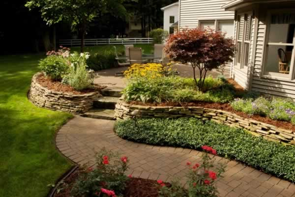 How to plan backyard design - entryway