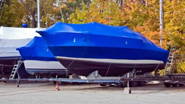 Prepping your boat for storage during winter - boat cover