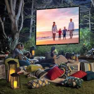 Why you should bring a portable generator when camping with friends - outdoor movie theater