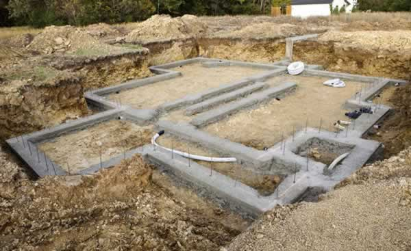 How to select building foundations - foundations in progress