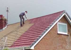 Summer is the perfect time for installing roof coating - family house