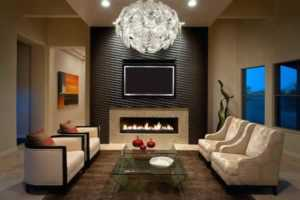 Handy tips in installing electric fireplace - beautiful living room with electric fireplace