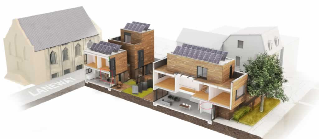 Ways that laneway housing can be beneficial to your community - graphics