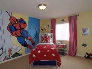 Choosing the best mural themes for your kid's room - spiderman