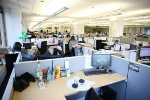 Creating efficiency in the workplace and why it's important - open concept office
