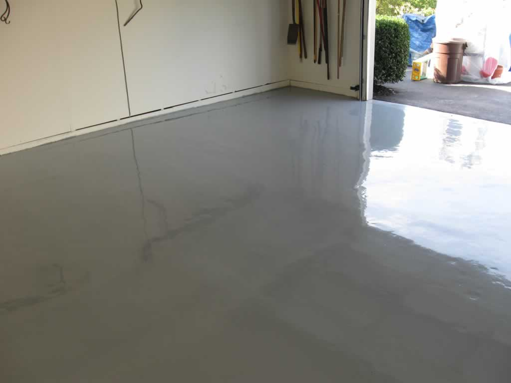 Garage flooring options - paint