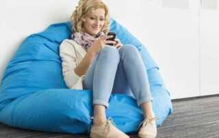 How to make a beanbag chair - blue chair