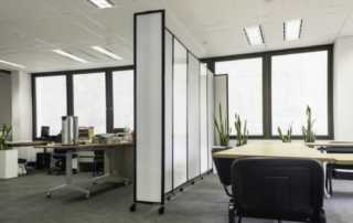 Benefits to using office partitions - office divider