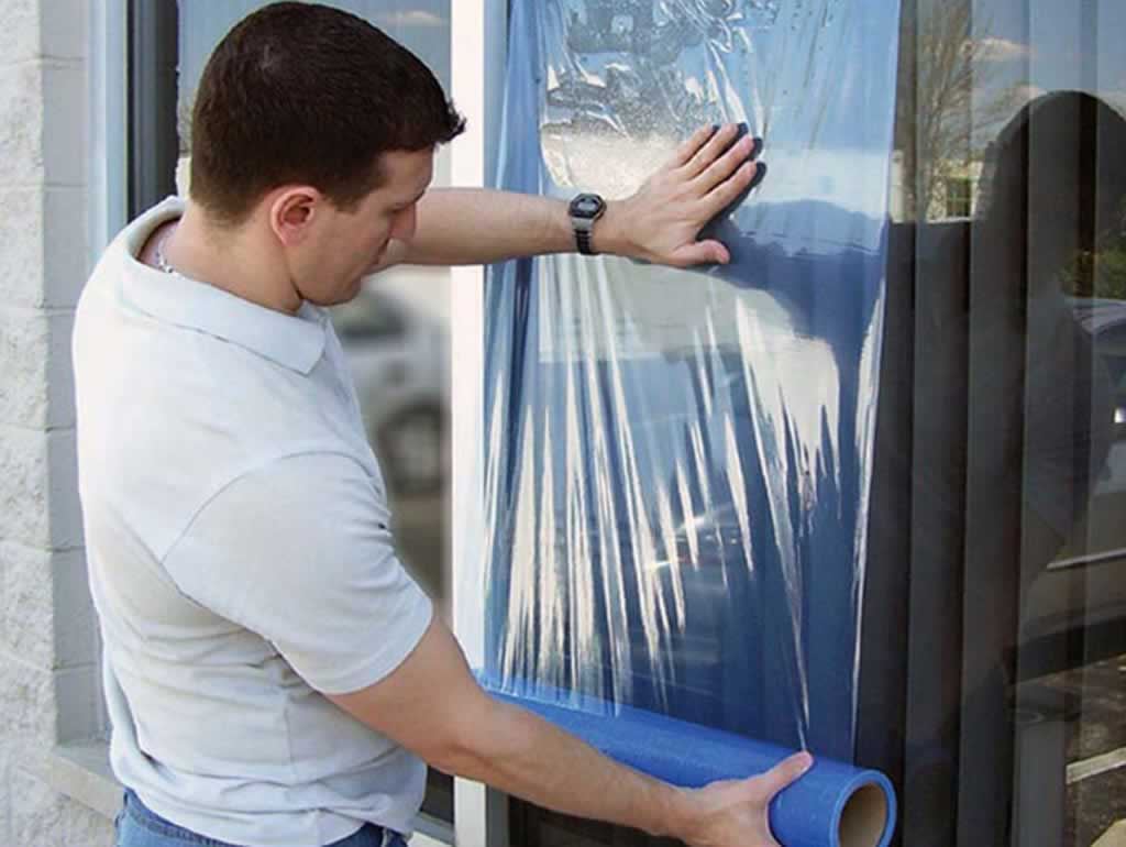 Essential tools for protecting your home during a decorating project - window sheet