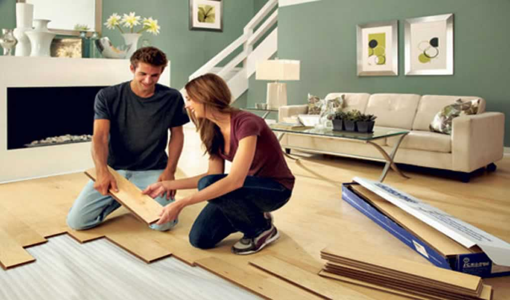Home improvement DIY tips - laying hardwood floor