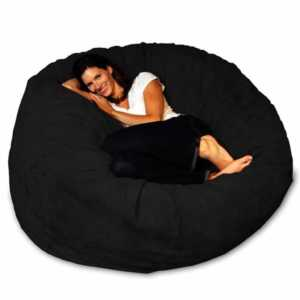 A guide to cleaning bean bags - women in a bean bag