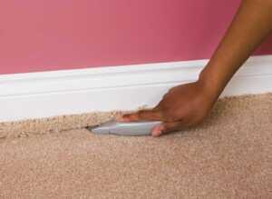Tips for installing new carpet - cutting carpet