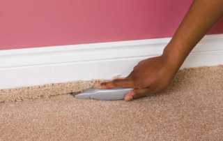 Tips for installing new carpet - cutting carpet