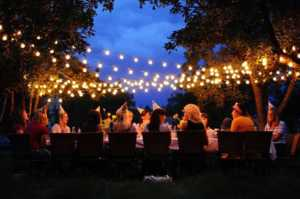 Tips to installing temporary decorative lights outside - festoon lights