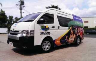 Vehicle lettering - van