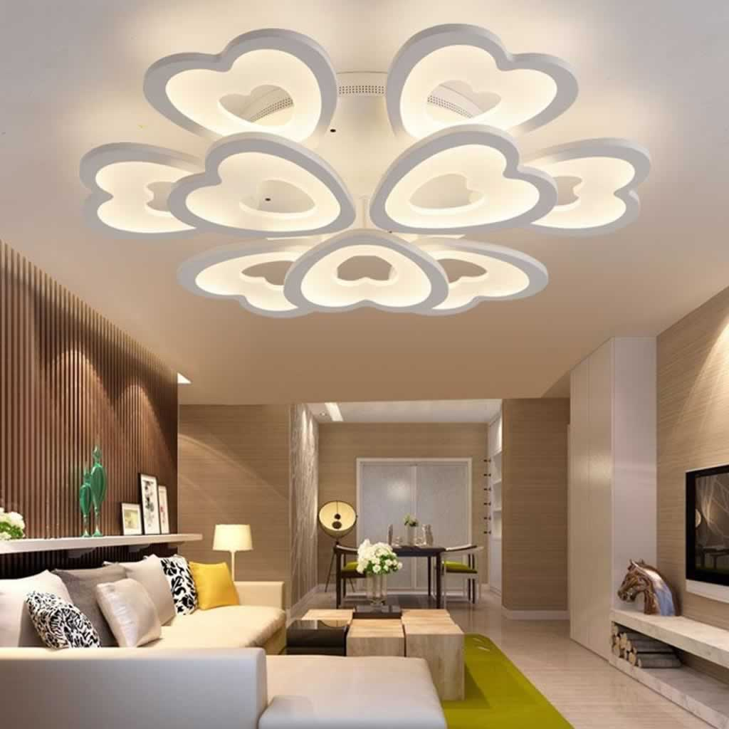 The top benefits to using LED ceiling lights - heart shaped lights