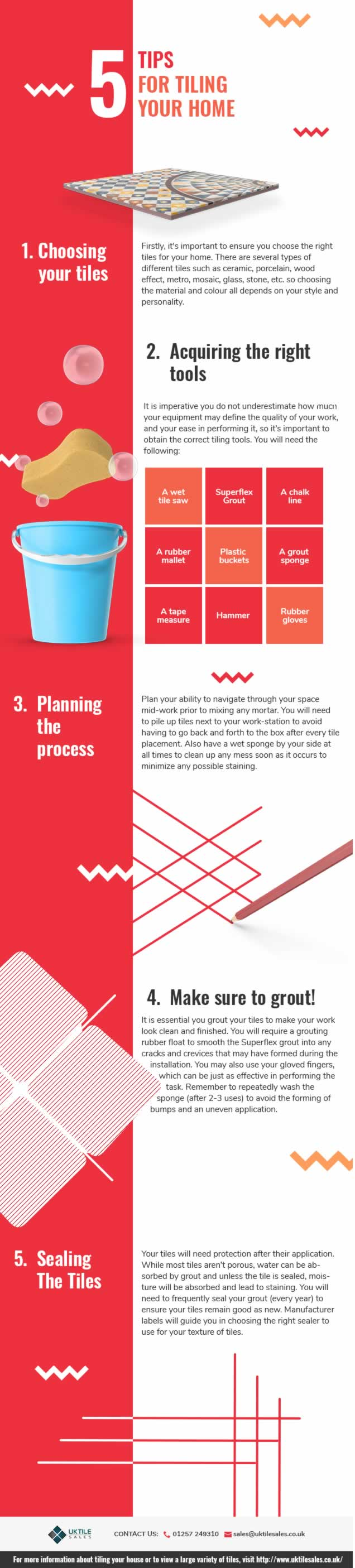 Top tips for tiling your home - infographic