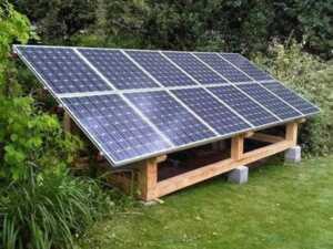 Generating power in large gardens - solar panels