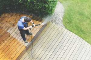 How to Choose The Best Pressure Washer for Home Use - deck cleaning