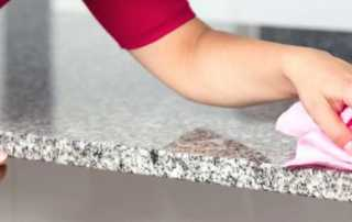 How to clean and maintain granite countertops - cleaning countertop