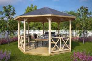 4 tips to choosing a patio gazebo - beautiful wooden gazebo