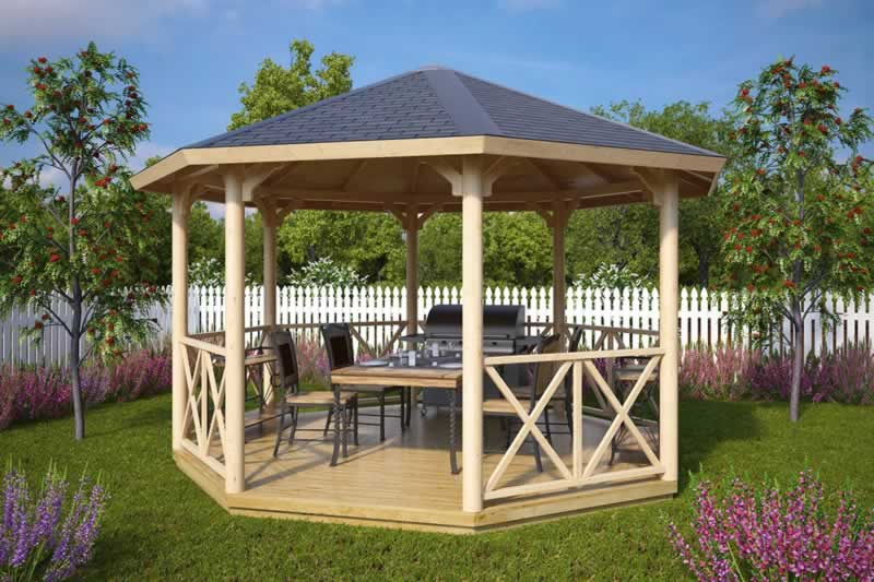 4 tips to choosing a patio gazebo - beautiful wooden gazebo