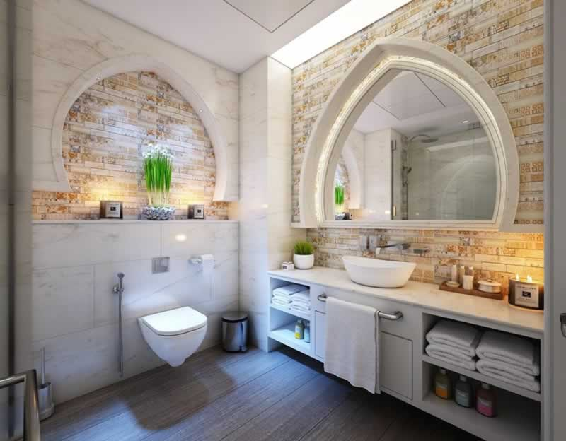 Bathroom Design Trends - statement walls