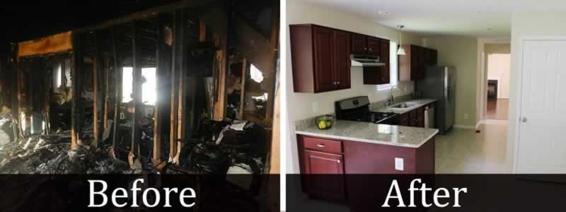 How restoration companies help after fire - before and after