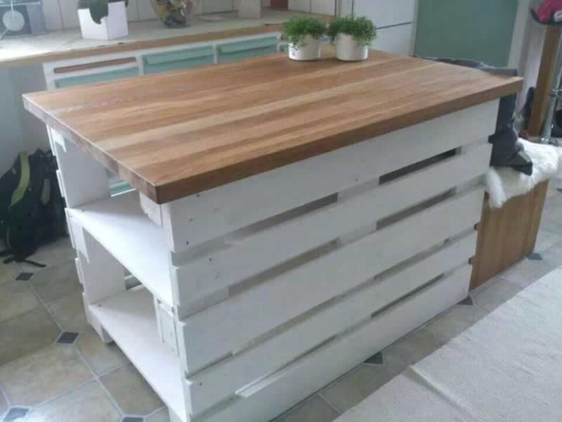 How to build a kitchen island - kitchen island out of pallets