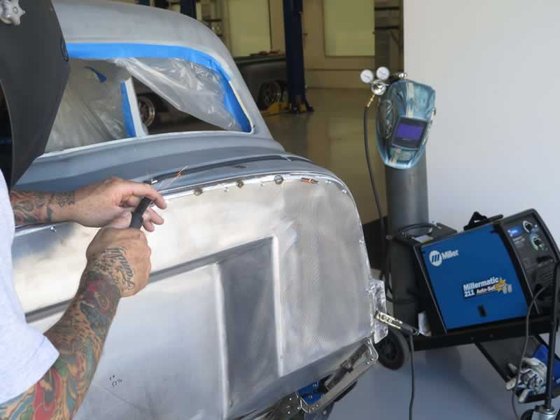 How to weld sheet metal on a car