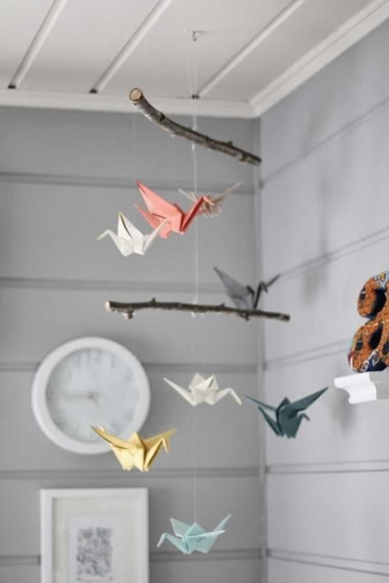12 Fascinating Japanese Style Home Decor Ideas - origami