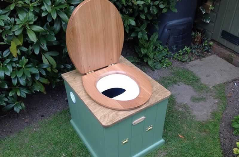 Must know steps when installing a composting toilet- composting toilet in the garden