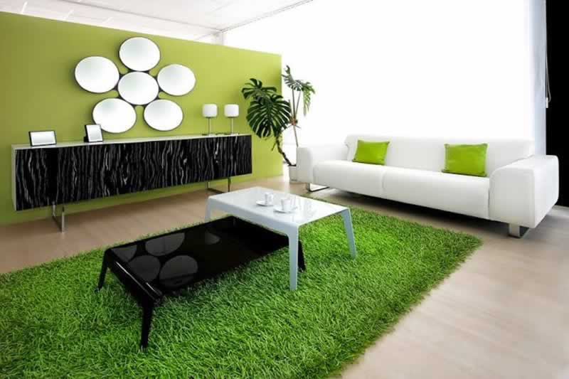 Six Ideas on Artificial Grass for your Interior Space - artificial grass in living room